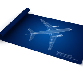 Jet Airplane Blueprint